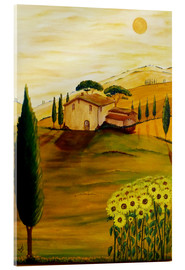 Akrylbillede  Sunflowers in Tuscany - Christine Huwer