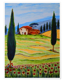 Premium-plakat  Flowering Poppies of Tuscany 4 - Christine Huwer