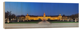Print på træ  Panoramic view of palace Karlsruhe Germany - FineArt Panorama