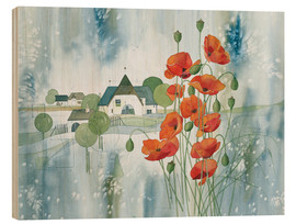 Print på træ  Poppy flower - Franz Heigl