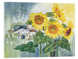 Akrylbillede  Rays of sun flowers - Franz Heigl