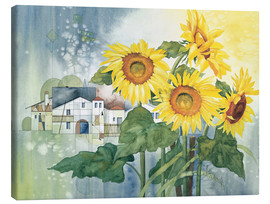 Lærredsbillede  Rays of sun flowers - Franz Heigl