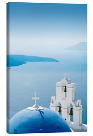 Lærredsbillede  Church Santorini Greece - Mayday74