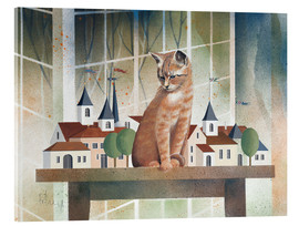 Akrylbillede  View of the cat - Franz Heigl