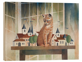 Print på træ  View of the cat - Franz Heigl