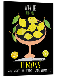 Akrylbillede  When live gives you lemons - Elisandra Sevenstar
