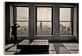 Print på træ  New York, Top of the Rock - Thomas Splietker