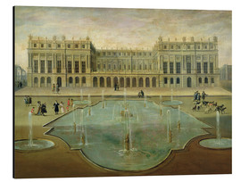 Print på aluminium  Chateau de Versailles from the Garden Side - French School