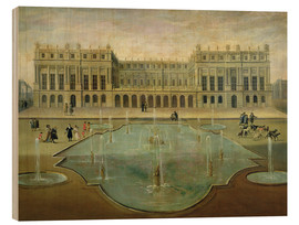Print på træ  Chateau de Versailles from the Garden Side - French School