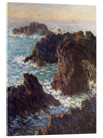 Akrylbillede  The Rocks of Belle-Ile - Claude Monet