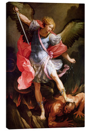 Lærredsbillede  The Archangel Michael defeating Satan - Guido Reni