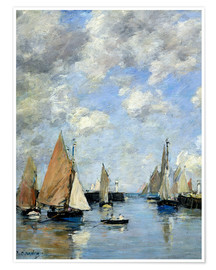 Premium-plakat  The Jetty at High Tide - Eugène Boudin