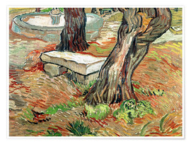Premium-plakat  The Bench at Saint-Remy - Vincent van Gogh