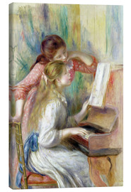 Lærredsbillede  Young Girls at the Piano - Pierre-Auguste Renoir
