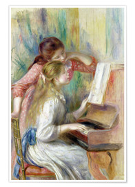 Premium-plakat Young Girls at the Piano