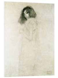 Print på skumplade  Portrait of a young woman - Gustav Klimt