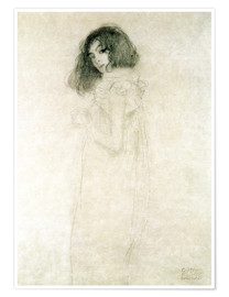 Premium-plakat  Portrait of a young woman - Gustav Klimt
