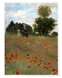 Premium-plakat Poppy field at Argenteuil