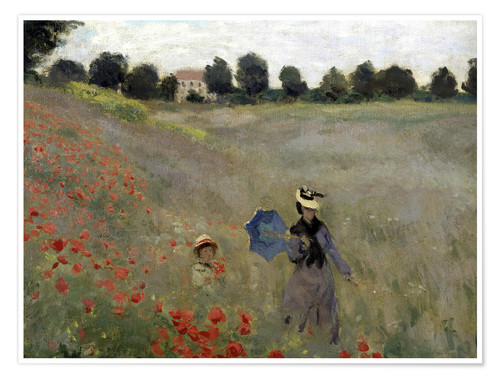 Premium-plakat Poppy field at Argenteuil, detail