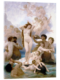 Akrylbillede  Venus fødsel - William Adolphe Bouguereau