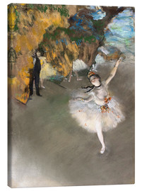 Lærredsbillede  The Star (Dancer on Stage) - Edgar Degas