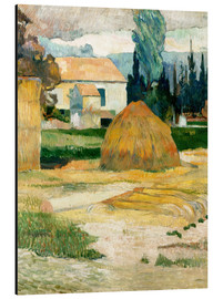 Print på aluminium  Farm House in Arles - Paul Gauguin