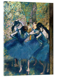 Akrylbillede  The Blue Dancers - Edgar Degas