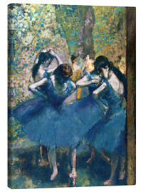 Lærredsbillede  The Blue Dancers - Edgar Degas