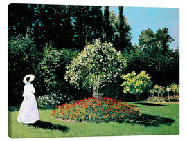 Lærredsbillede  Woman in a Garden - Claude Monet