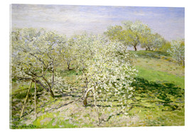Akrylbillede  Spring (Fruit Trees in Bloom) - Claude Monet