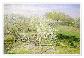 Premium-plakat  Spring (Fruit Trees in Bloom) - Claude Monet