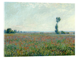 Akrylbillede  Field with poppies - Claude Monet
