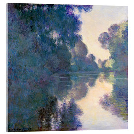 Akrylbillede  Morning on the Seine near Giverny - Claude Monet
