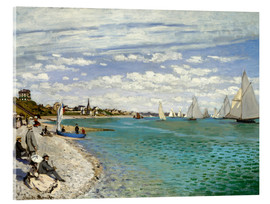Akrylbillede  Regatta at Sainte-Adresse - Claude Monet