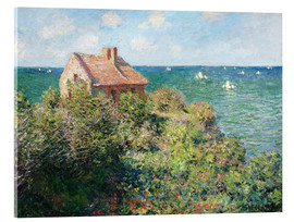 Akrylbillede  The Fisherman's House at Varengeville - Claude Monet