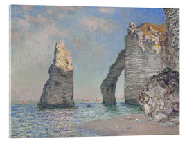 Akrylbillede  The rock face of Aval - Claude Monet