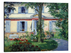 Print på aluminium  Country house in Rueil - Edouard Manet