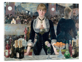 Akrylbillede  A Bar at the Folies-Bergère - Edouard Manet