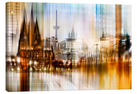 Lærredsbillede  Germany Collonge Köln skyline - Städtecollagen