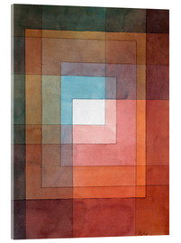 Akrylbillede  White framed polyphonically - Paul Klee