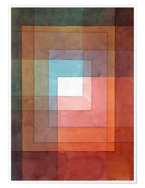 Premium-plakat  White framed polyphonically - Paul Klee