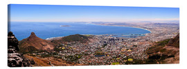 Lærredsbillede  Cape Town panoramic view - HADYPHOTO