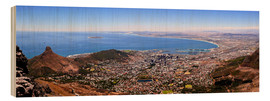 Print på træ  Cape Town panoramic view - HADYPHOTO