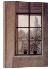 Print på træ  Window w.view o.park - Caspar David Friedrich