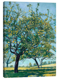 Lærredsbillede  Paddock with apple trees - Ferdinand Hodler