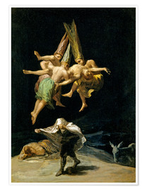 Premium-plakat  Witches' flight - Francisco José de Goya