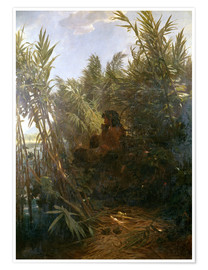 Premium-plakat  Pan in the reed - Arnold Böcklin
