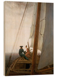 Print på træ  On the Sailing ship - Caspar David Friedrich