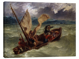 Lærredsbillede  Jesus on Sea of Galilee - Eugene Delacroix