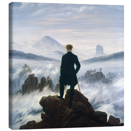 Lærredsbillede  Vandreren over tågehavet - Caspar David Friedrich